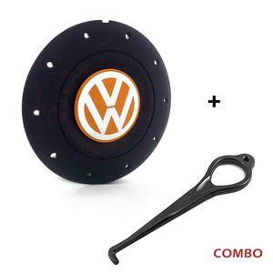 Calota-centro-Roda-Amarok-5-Furos-Preta-Com-Chave-Para-Remocao-Emblema-Volkswagen-VW-Laranja-1a