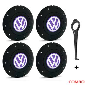 Calota-centro-Roda-Amarok-5-Furos-Preta-Com-Chave-Para-Remocao-Emblema-Volkswagen-VW-Lilas-4a