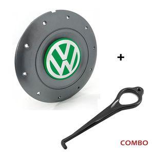 Calota-Centro-Roda-Amarok-4-Furos-Verde-Aro-13-14-15-Com-Chave-Para-Remocao-Emblema-Volkswagen-VW-Amarelo-1a