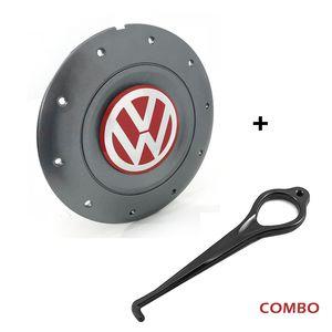 Calota-Centro-Roda-Amarok-4-Furos-Vermelho-Aro-13-14-15-Com-Chave-Para-Remocao-Emblema-Volkswagen-VW-Amarelo-1a