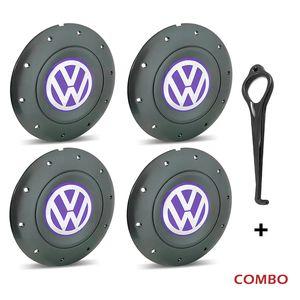 Calota-Centro-Roda-Amarok-5-Furos-Grafite-Emblema-Volkswagen-VW-Lilas-Com-Chave-Para-Remocao-4a