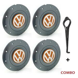 Calota-Centro-Roda-Amarok-5-Furos-Grafite-Emblema-Volkswagen-VW-Laranja-Com-Chave-Para-Remocao-4a
