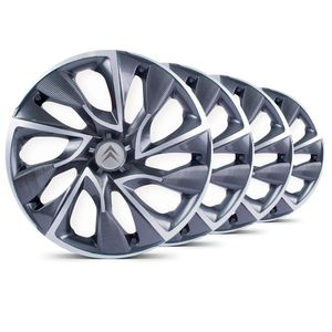 Jogo-Calota-DS4-Sport-Cup-Emblema-Prata-Citroen-Berlingo-C3-C4-Hacth-C4-VTR-C5-Picasso-Xantia-Xsara