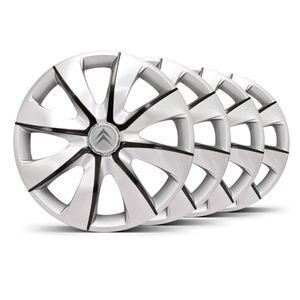 Jogo-Calota-Prime-Aro-14-Prata-Grafite-Emblema-Prata-Citroen-Berlingo-C3-C4-Hacth-C4-VTR-C5-Picasso-Xantia-Xsara