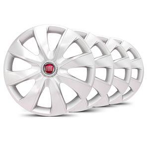 Jogo-4-Calota-Prime-Unicolor-Prata-Aro-14-Fiat-Vermelho