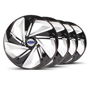 Jogo-4-Calota-Nitro-X-Aro-14-Preta-Prata-Ford-Prata