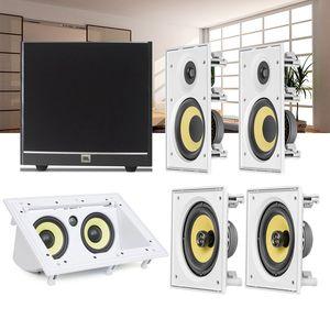Kit-Home-Theater-5.1-JBL-Caixa-de-Embutir-CI6R---CI6S---Central-CI55RA---Sub-100-Residencial-Gesso-1a