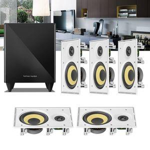 Kit-Home-Theater-5.1-JBL-Caixa-de-Embutir-CI6R---Sub-210-Residencial-Gesso--1a