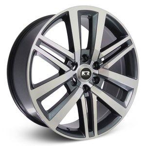 Roda-KR-R72-Toyota-Hilux-Aro-20---Grafite-com-face-polida