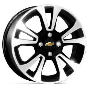 Roda-KR-R42-Chevrolet-Onix-Aro-14---Preta-com-face-polida