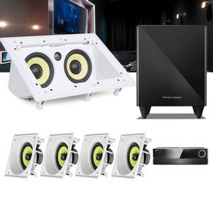 Kit-Home-Theater-5.1-JBL-Receiver-AVR-1510S---Caixa-Embutir-Teto-CI6SA---Central-CI55RA---Sub-210--1a
