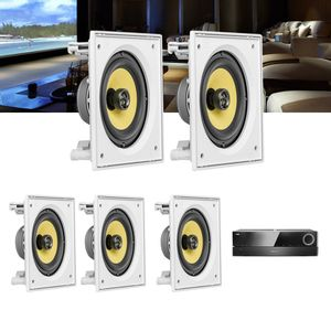 Kit-Home-Theater-5.0-JBL-Receiver-AVR-1510S---Caixa-Embutir-Teto-CI6S-Residencial-Gesso--1a