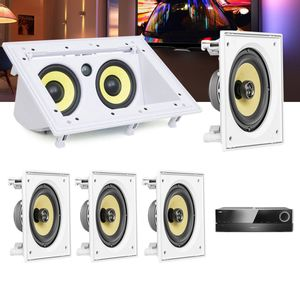 Kit-Home-Theater-5.0-JBL-Receiver-AVR-1510S---Caixa-Embutir-CI6S---Central-CI55RA-Residencial-Gesso-1a