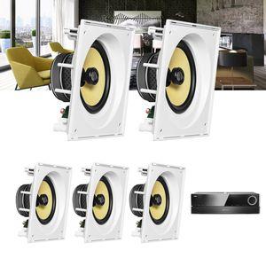 Kit-Home-Theater-5.0-JBL-Receiver-AVR-1510S---Caixa-de-Embutir-Teto-CI8SA-Residencial-Gesso--1a