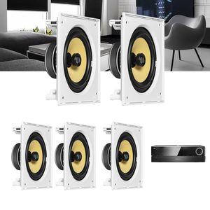 Kit-Home-Theater-5.0-JBL-Receiver-AVR-1510S---Caixa-de-Embutir-Teto-CI8S-Residencial-Gesso-1a
