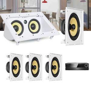Kit-Home-Theater-5.0-JBL-Receiver-AVR-1510S---Caixa-Embutir-Teto-CI8S---Central-CI55RA-Residencial-1a