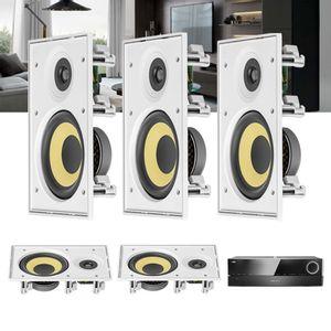 Kit-Home-Theater-5.0-JBL-Receiver-AVR-1510S---Caixa-de-Embutir-Teto-CI6R-Residencial-Gesso-1a