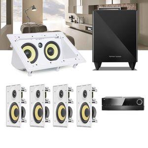 Kit-Home-Theater-5.1-JBL-Receiver-AVR-1510S---Caixa-Embutir-Teto-CI6R---Central-CI55RA---Sub-210-2a