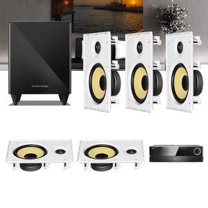Kit-Home-Theater-5.1-JBL-Receiver-AVR-1510S---Caixa-de-Embutir-Teto-CI8R---Sub-210-Residencial-Gesso-1a