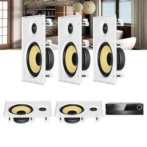 Kit-Home-Theater-5.0-JBL-Receiver-AVR-1510S---Caixa-de-Embutir-Teto-CI8R-Residencial-Gesso-1a