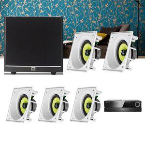 Kit-Home-Theater-5.1-JBL-Receiver-AVR-1510S---Caixa-Embutir-Teto-CI6SA---Sub-100-Residencial-Gesso--1a