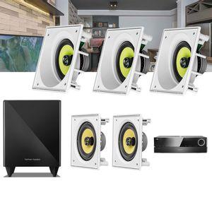 Kit-Home-Theater-5.1-JBL-Receiver-AVR-1510S---Caixa-Embutir-Teto-CI6SA---CI6S---Sub-210-Residencial--1