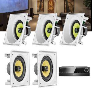 Kit-Home-Theater-5.0-JBL-Receiver-AVR-1510S---Caixa-Embutir-Teto-CI6SA---CI6S-Residencial-Gesso-1