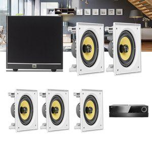 Kit-Home-Theater-5.1-JBL-Receiver-AVR-1510S---Caixa-Embutir-Teto-CI6S---Sub-100-Residencial-Gesso-1a