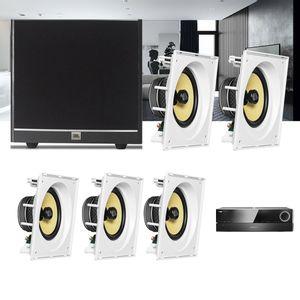 Kit-Home-Theater-5.1-JBL-Receiver-AVR-1510S---Caixa-Embutir-Teto-CI8SA---Sub-100-Residencial-Gesso-1a