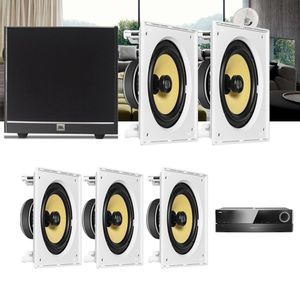 Kit-Home-Theater-5.1-JBL-Receiver-AVR-1510S---Caixa-Embutir-Teto-CI8S---Sub-100-Residencial-Gesso--1a