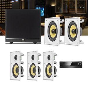 Kit-Home-Theater-5.1-JBL-Receiver-AVR-1510S---Caixa-Embutir-Teto-CI6R---CI6S---Sub-100-1a