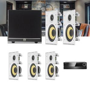 Kit-Home-Theater-5.1-JBL-Receiver-AVR-1510S---Caixa-de-Embutir-Teto-CI6R---Sub-100-Residencial-Gesso-1a