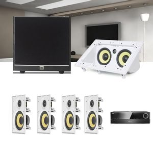 Kit-Home-Theater-5.1-JBL-Receiver-AVR-1510S---Caixa-Embutir-CI8R---Canal-Central-CI55RA---Sub-100-1a