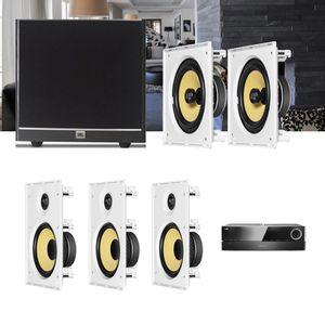 Kit-Home-Theater-5.1-JBL-Receiver-AVR-1510S---Caixa-Embutir-Teto-CI8R---CI8S---Sub-100-Residencial--1a