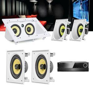 Kit-Home-Theater-5.0-JBL-Receiver-AVR-1510S---Caixa-Embutir-Teto-CI6SA---CI6S---Central-CI55RA-1a