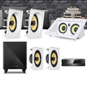 Kit-Home-Theater-5.1-JBL-Receiver-AVR-1510S---Caixa-Embutir-CI8SA---CI8S---Central-CI55RA01