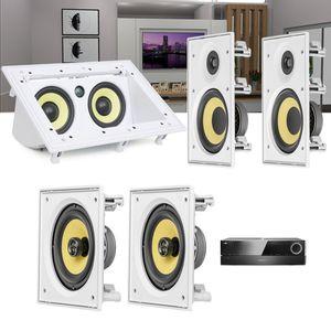 Kit-Home-Theater-5.0-JBL-Receiver-AVR-1510S---Caixa-de-Embutir-Teto-CI6R---CI6S---Central-CI55RA-1a