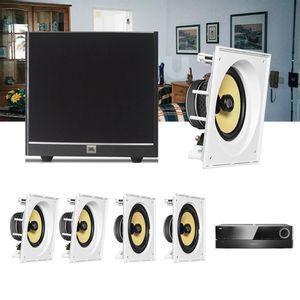 Kit-Home-Theater-5.1-JBL-Receiver-AVR-1510S---Caixa-Embutir-CI8SA---CI8S---Sub-100-Residencial-Gesso-1a