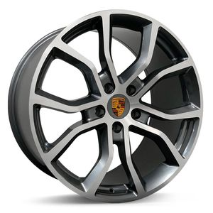 Jogo-Roda-Porsche-Cayenne-Aro-21---Grifite-Brilhante-Roda-Porsche-Cayenne-Aro-21-5x130-Tala-9511-Off-Set-46-58-1a