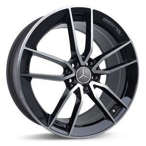 Jogo-Roda-Mercedes-CLS53-Aro-19---Preta-Brilhante-Roda-Mercedes-CLS53-Aro-19-5x112-Tala-89-Off-Set-45-2a