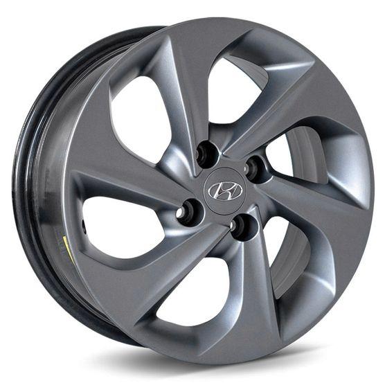 Jogo-Roda-KR-R78-Hyundai-HB20-Aro-15---Grafite-Fosco-Roda-KR-R78----4x100-Tala-60-Off-Set-42