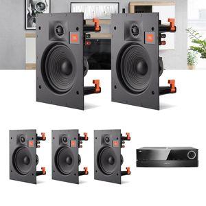 Kit-Home-Theater-5.0-JBL-Receiver-AVR-1010---Caixa-de-Embutir-Teto-Arena-6IW-Residencial-Gesso-1a