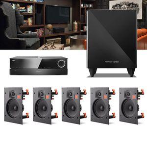 Kit-Home-Theater-5.1-JBL-Receiver-AVR-1010---Caixa-Embutir-Teto-Arena-6IW---Sub-210-1a