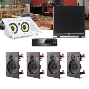 Kit-Home-Theater-5.1-JBL-Receiver-AVR-1010--Caixa-Embutir-Teto-Arena-6IW---Central-CI55RA---Sub-100-1a