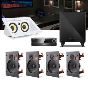 Kit-Home-Theater-5.1-JBL-Receiver-AVR-1010--Caixa-Embutir-Teto-Arena-6IW---Central-CI55RA---Sub-210-1a