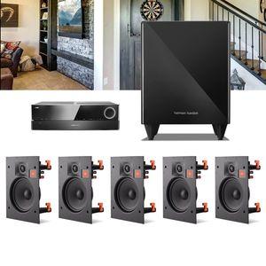 Kit-Home-Theater-5.1-JBL-Receiver-AVR-1010---Caixa-Embutir-Teto-Arena-8IW---Sub-210-1a