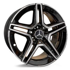 Jogo-de-Roda-Mercedes-C300-Aro-17---Preta-Diamantada-01