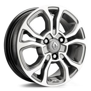 Jogo-Roda-KR-M7-Renault-Kwid-Aro-14---Grafite-Diamantada