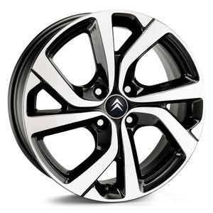Jogo-Roda-KR-S14-Citroen-C4-Cactus-Aro-16---Preta-Diamantada