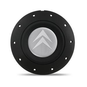 Calota-Centro-Roda-Ferro-Amarok-Citroen-4-Furos-Preta-Fosca-Emblema-Prata-1a